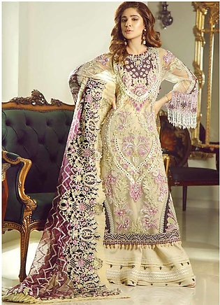 Meer by Maryam Hussain Embroidered Net Unstitched 3 Piece Suit MRH19W INAYAT ...