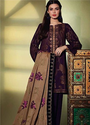 Charizma Embroidered Jacquard Unstitched 3 Piece Suit CRZ19W 08 - Winter Coll...