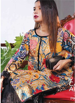 Tarzz Printed Lawn Unstitched Kurties TZ20SL Z20 01 - Summer Collection