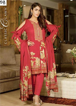 Five Star Printed Lawn Unstitched 3 Piece Suit FS20CL 1220B - Spring / Summer C…