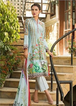 Nadia Hussain Embroidered Lawn Unstitched 3 Piece Suit NH19L 09 - Spring / Su...