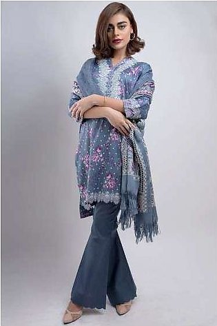 Zeen By Cambridge Embroidered Linen Unstitched 3 Piece Suit ED17W 377022