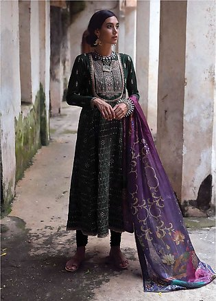 Qalamkar Embroidered Lawn Unstitched 3 Piece Suit QLM20L 06 - Luxury Collection