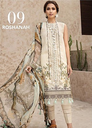 IRIS by Jazmin Embroidered Lawn Unstitched 3 Piece Suit JZ20I 9 - Summer Coll...