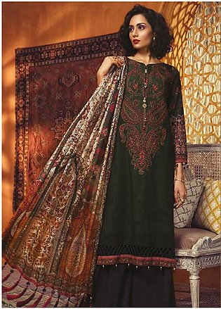 Maria B Embroidered Khaddar Unstitched 3 Piece Suit MBP19WE 7012 B - Winter C...