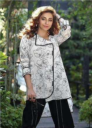 Edenrobe Embroidered Cotton Stitched Kurtis ELTKP19-66725