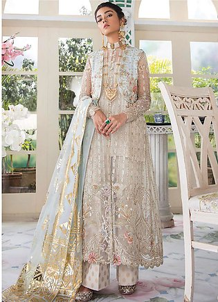 Freesia Suffuse by Sana Yasir Embroidered Zari Net Unstitched 3 Piece Suit FR...