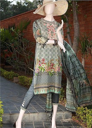 Saya Embroidered Lawn Unstitched 3 Piece Suit SY18F 2A - Festive Collection