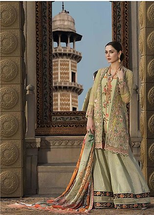 Asim Jofa Embroidered Lawn Unstitched 3 Piece Suit AJ20LL 4A - Luxury Collection