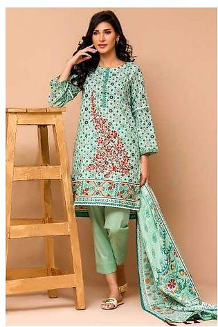 Zeen By Cambridge Embroidered Linen Unstitched 3 Piece Suit ED17W 377004