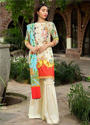 Umang by Motifz Embroidered Lawn Unstitched 3 Piece Suit UMT20L 2544 Lemon Yell…