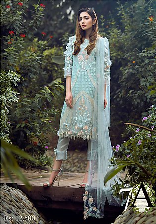 Asifa & Nabeel Embroidered Chiffon Unstitched 3 Piece Suit AN17C 07