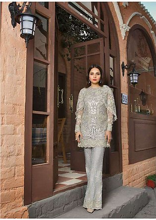 Epoque Suffuse by Sana Yasir Embroidered Cotton Net Unstitched 3 Piece Suit E...