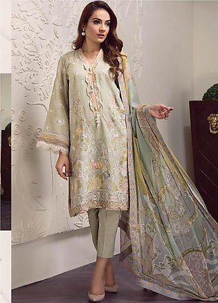 Baroque Embroidered Lawn Unstitched 3 Piece Suit BQ19-S2 02 KYRA - Mid Summer...