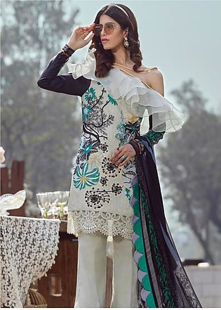 Asifa & Nabeel Embroidered Lawn Unstitched 3 Piece Suit AN20L Magic Burst - S...