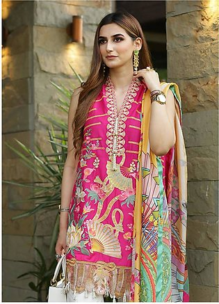 Crimson Embroidered Lawn Unstitched 3 Piece Suit CRM19L 2A - Spring / Summer ...