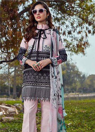 Asifa & Nabeel Embroidered Lawn Unstitched 3 Piece Suit AN20L Pastel Perfecti...