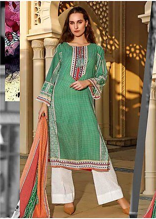 Ittehad Textiles Printed Lawn Unstitched 3 Piece Suit ITD20CS 50A - Summer Co...