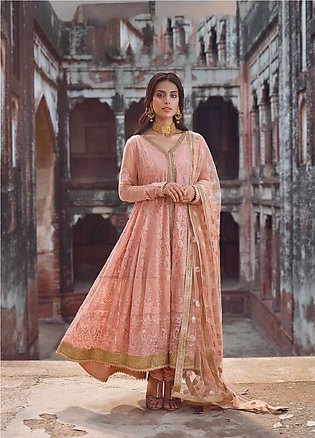 Shahnameh by Qalamkar Embroidered Chiffon Unstitched 3 Piece Suit QLM19SH 01 ...