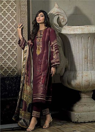 Asim Jofa Embroidered Lawn Unstitched 3 Piece Suit AJ20LL 8A - Luxury Collection