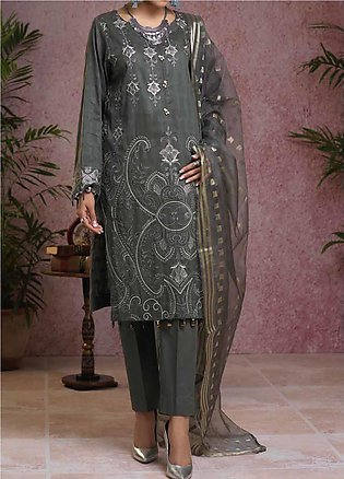 Salitex Embroidered Broschia Unstitched 3 Piece Suit ST19B 367 - Luxury Colle...
