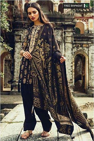 Zara Shahjahan Embroidered Lawn Unstitched 3 Piece Suit ZS17L Dastaan