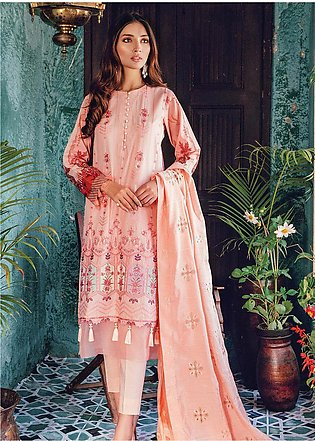 RajBari Embroidered Lawn Unstitched 3 Piece Suit RB20L 6-A - Luxury Collection