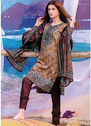 Five Star Printed Lawn Unstitched 3 Piece Suit FS19L 1222B - Spring / Summer ...