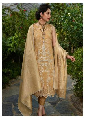 Asifa & Nabeel Embroidered Tissue Silk Unstitched 3 Piece Suit AN19W 2V GHAZAL - Winter Collection