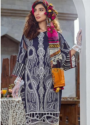 Asifa & Nabeel Embroidered Lawn Unstitched 3 Piece Suit AN20L Classy Creation...