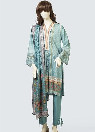 Saya Printed Lawn Unstitched 3 Piece Suit SY19S 4A - Summer Collection