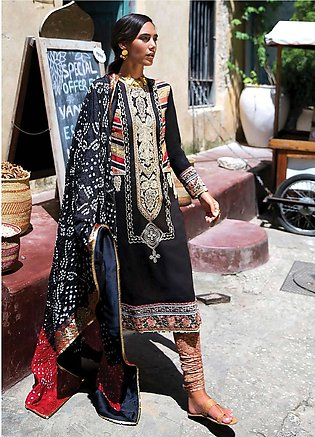 Qalamkar Embroidered Lawn Unstitched 3 Piece Suit QLM20L 02 - Luxury Collection