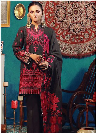 RajBari Embroidered Khaddar Unstitched 3 Piece Suit RB18K 2B - Winter Collection