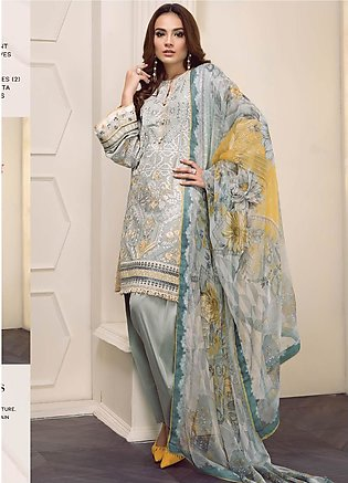 Baroque Embroidered Lawn Unstitched 3 Piece Suit BQ19-S2 07 EVERLY - Mid Summ...