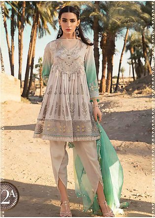 Maria B Embroidered Lawn Unstitched 3 Piece Suit MB20SV 2012 A - Spring / Summe…