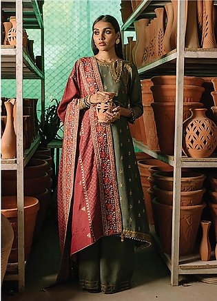 Rehab By Qalamkar Embroidered Jacquard Unstitched 3 Piece Suit QLM19R 03 ZARD...