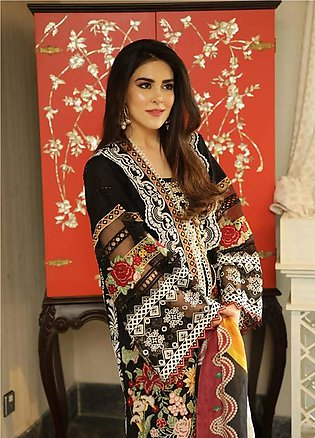Crimson Embroidered Lawn Unstitched 3 Piece Suit CRM19L 1B - Spring / Summer ...