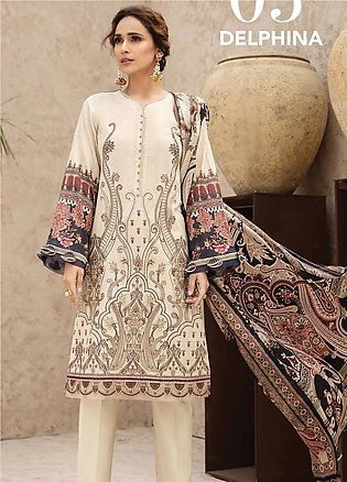 IRIS by Jazmin Embroidered Lawn Unstitched 3 Piece Suit JZ20I 5 - Summer Coll...