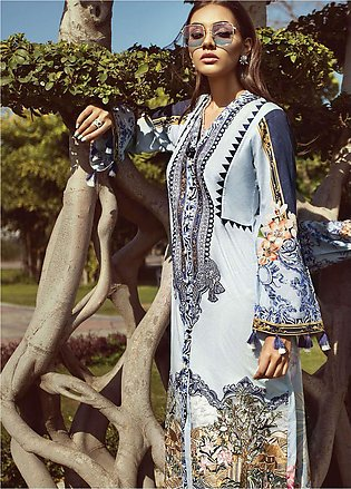 Jazmin by Baroque Embroidered Lawn Unstitched 3 Piece Suit JZ19L 02 HEAVEN HU...