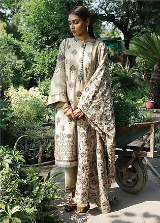 Rehab By Qalamkar Embroidered Jacquard Unstitched 3 Piece Suit QLM19R 02 CHAW...