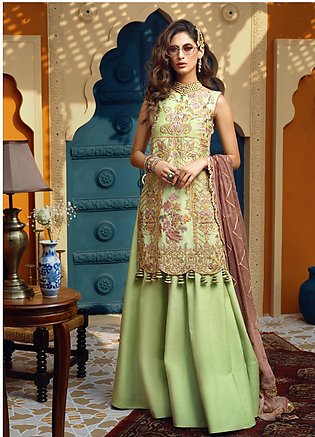 Asim Jofa Embroidered Chiffon Unstitched 3 Piece Suit AJ19C 05 - Wedding Coll...