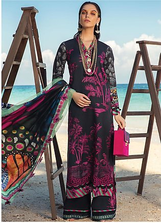 Rang Rasiya Embroidered Lawn Unstitched 3 Piece Suit RR20L 103 - Luxury Colle...