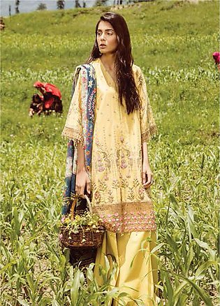 Zara Shahjahan Embroidered Lawn Unstitched 3 Piece Suit ZSM18L 02 - Luxury Co...