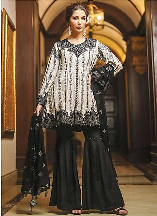 Edenrobe Embroidered Jacquard Unstitched 3 Piece Suit 019447 - Wedding Collec...