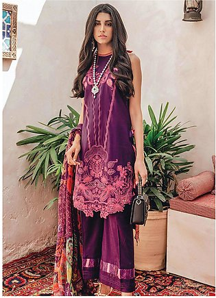 RajBari Embroidered Lawn Unstitched 3 Piece Suit RB20L 7-B - Luxury Collection
