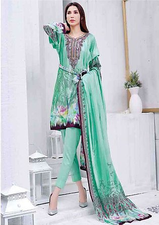 Five Star Printed Lawn Unstitched 3 Piece Suit FS19L 1211B - Spring / Summer ...