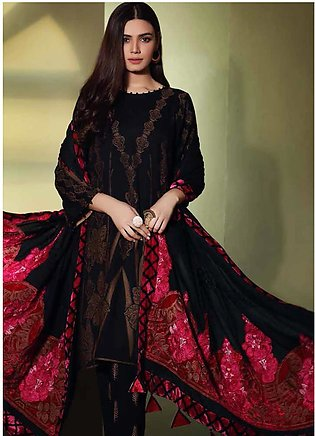 Charizma Embroidered Jacquard Unstitched 3 Piece Suit CRZ19W 03 - Winter Coll...