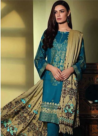 Charizma Embroidered Jacquard Unstitched 3 Piece Suit CRZ19W 07 - Winter Coll...