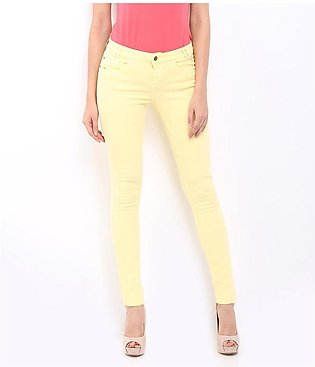 Women's Cream Denim Jeans SA-J7