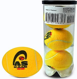 AS SPORTS Kami 23 - Tennis Cricket Ball - Pack of 3 - Yellow By Fasilite
